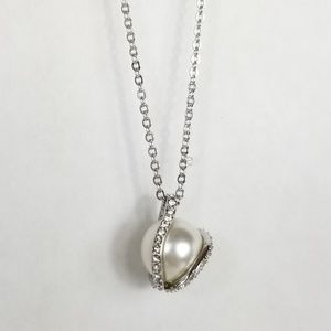 Swarovski Nude Pearl Crystal Pendant Necklace